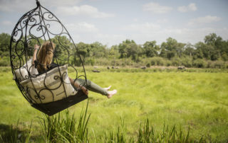 Little Governors' Camp - Swing chair overlooking the Marsh
